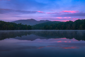 Still water at sunrise, Price Lake, North Carolina