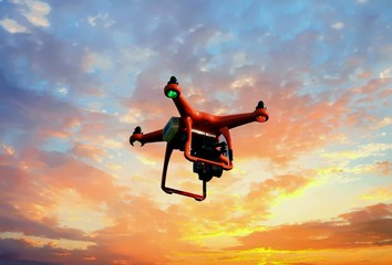 Mapping Drone at Sunset