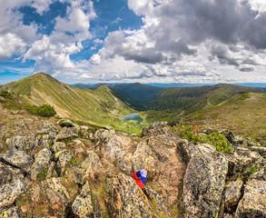 Lake Heart in the Khamar-Daban mountains, near the Peak of Chersky