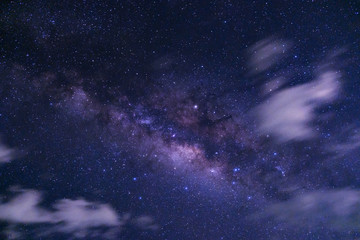 milky way galaxy with cloud and space dust in the universe