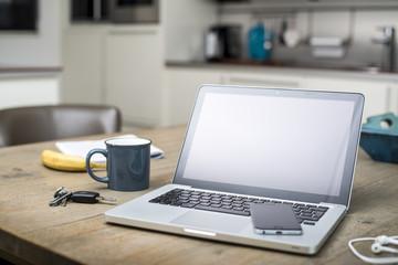 home interior laptop web design mockup