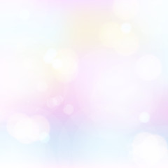 romantic pastel pink blue yellow colored bokeh effect vector background