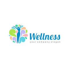 Wellness vector logo design