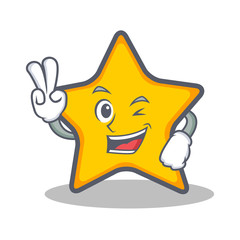 Two finger star character cartoon style