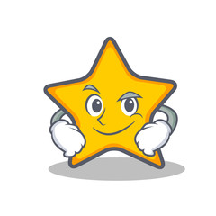Smirking star character cartoon style