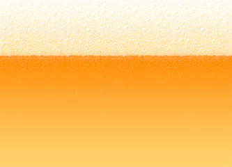 Vector background of beer with a foam and bubbles. The variety Lager Light Bitter. High detailed realistic illustration on a brewing theme for Oktoberfest beer festival. No Mesh