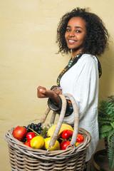Happy Ethiopian woman