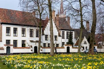 Foto op Canvas Brugge Bruges beguinage
