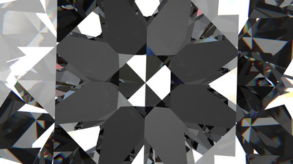 3d rendering. close up on top of shiny diamond (HIGH RESOLUTION)