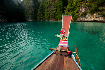 Journey on an old wooden boat in the open ocean to the Islands