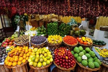 Mercado dos Lavradores, die Markthalle von Funchal Fototapete