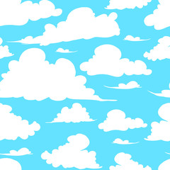 seamless texture painted handmade clouds