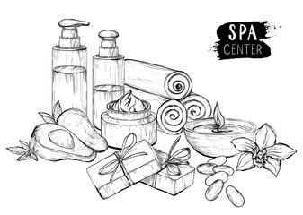 Avocado oil, cream and spa products