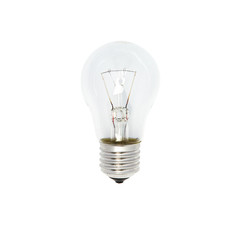 Glass bulb on white background