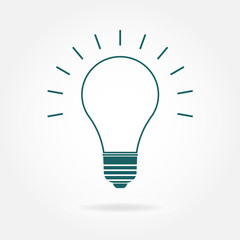 Lamp icon. Vector illustration.