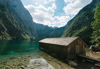 Cabin at lake Obersee  in Germany