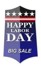Happy Labor Day banner on web page