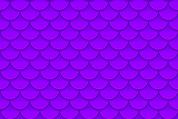 Seamless pattern of colorful violet purple fish scales. Fish scales, dragon skin, Japanese carp, dinosaur skin, pimples, reptile, snake skin, shingles.