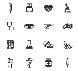 medicine icon set