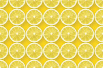 lemon slices over yellow