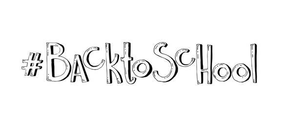 Back to school. Vector hand drawn lettering