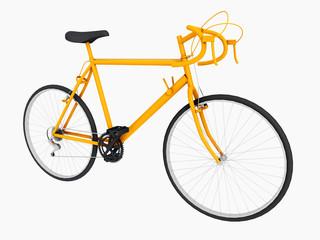 Gelbes Rennrad, Freisteller