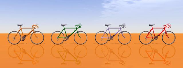 Rennräder, Seitenansicht