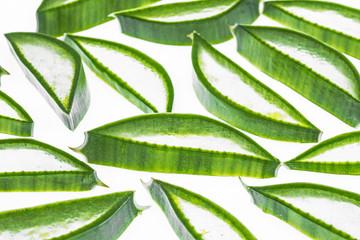 Aloe vera, leave, segments