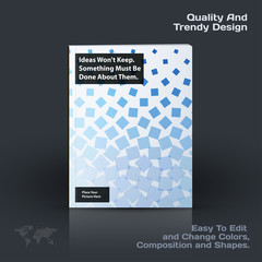 Business vector template, brochure design, abstract annual report