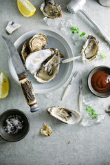 Oyster appetizer.