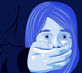 Bambina abuso, maltrattamento, picchiare, ragazza, bambina, violenza sulle donne.