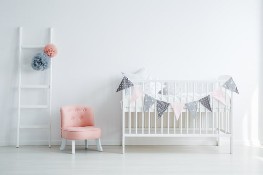 Minimalistic baby's room interior
