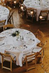 Wedding Reception Tables in Barn Reception Venue
