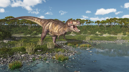Tyrannosaurus Rex am Meer
