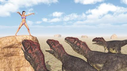 Magierin und Dinosaurier