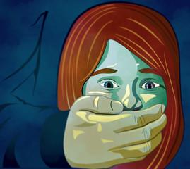 Bambina abuso, maltrattamento, picchiare, ragazza, bambina, violenza sulle donne