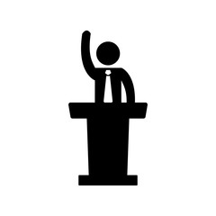 Speaker man icon. Vector illustration