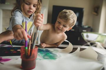 Homeschool craft/paint time