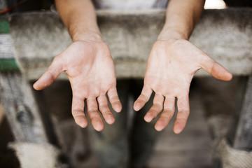 Farmer's Dirty Hands After Work