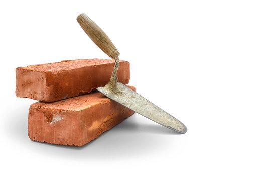 Bricks and trowel