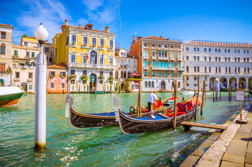 Panoramic view of famous Grand Canal in Venice, Italy Fototapete