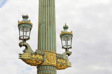 Rostral column with lanterns on the Place de la Concorde. Paris