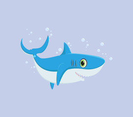 illustration of Smiling shark cartoon