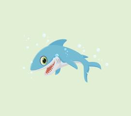 illustration of Smiling shark cartoon