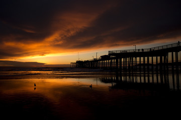 Sunset at Pismo Beach pier (Pacific Coast Highway, California)