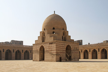 Mosque of Ibn Tulun in Cairo Egypt