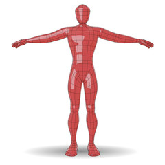 Human figure plastic wireframe man
