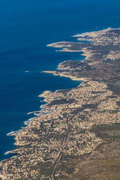 mediterranean coastline at Carry le Rouet