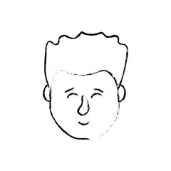 figure avatar man head with hairstyle design
