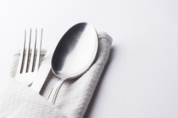 Kitchen Silverware concept. High resolution image for food industry.